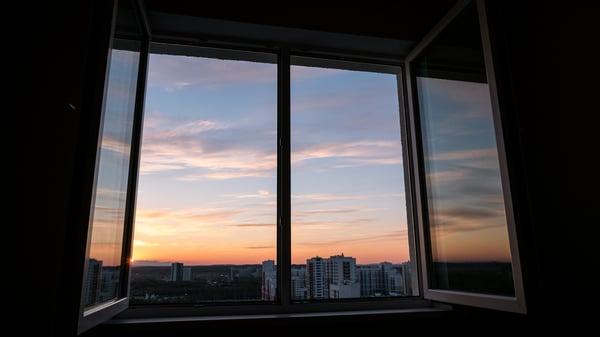 breeze through a casement window