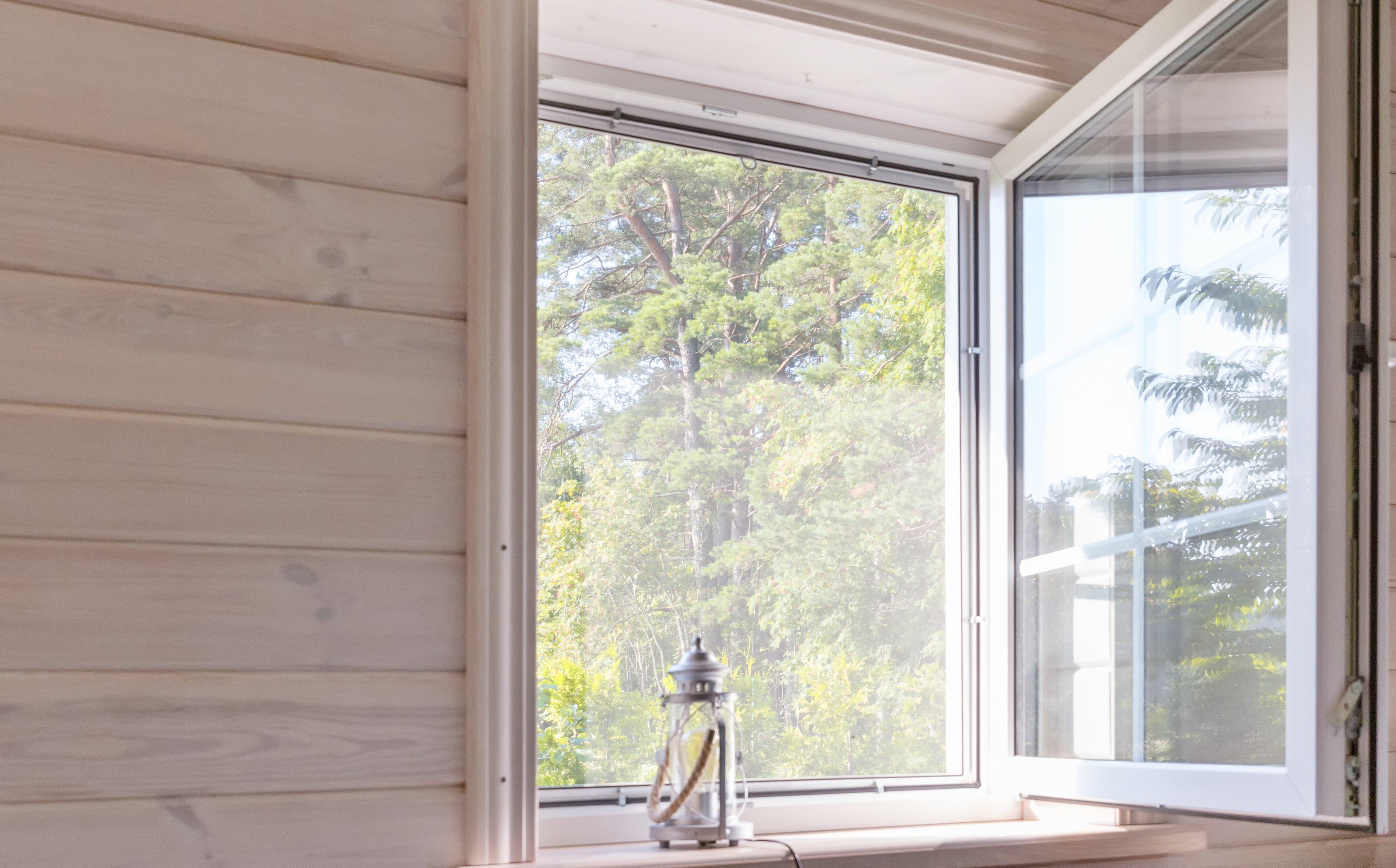 white window casement