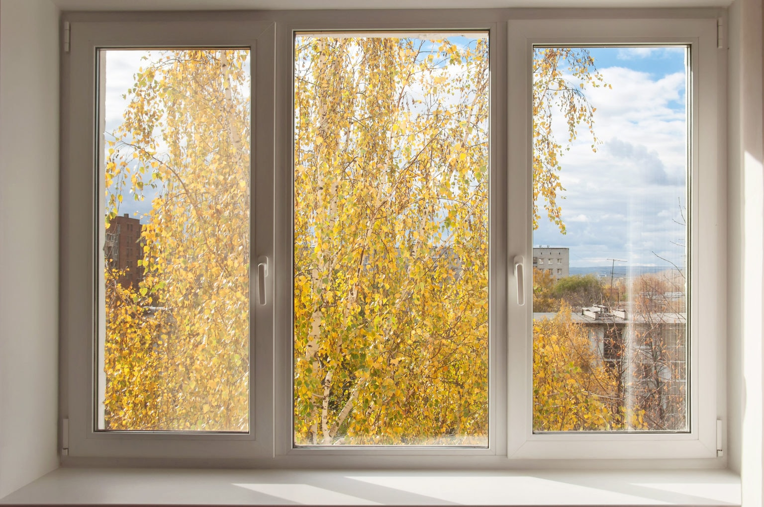 three casement windows